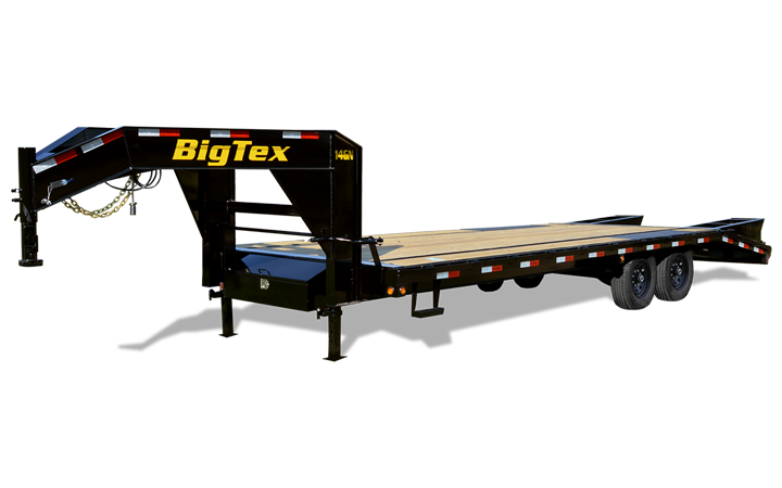 Big Tex 14GN -8 1/2 x 20 +5 Black,5DT with 2-MegaRamps 24783