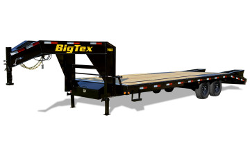 Big Tex 20' Single Wheel Tandem Axle Gooseneck with Mega Ramps 14GN-20BK+5MR