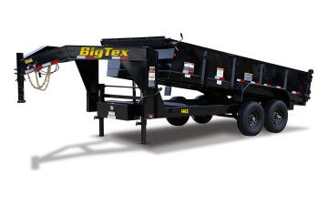 Big Tex 14GX 7' x 14' 14K Heavy Duty Extra Wide Gooseneck Dump Trailer