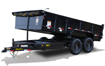 "Big Tex 14LX 14K TAND DUMP 83""x14 7SIR 7K HYD JACK, BLACK"