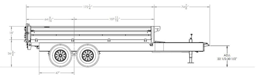 Over-The-Axle Dump Trailer