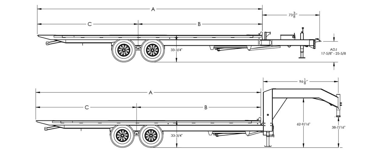 Heavy Duty Over-the-Axle Tilt Bed Equipment