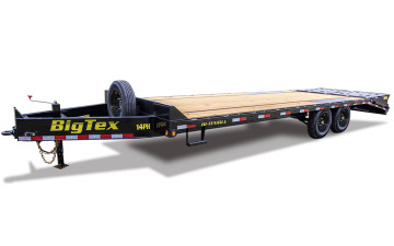 Big Tex 14PH 15.9K TAND PINTLE 102x20+5 DVT, MEGA RAMPS, Black