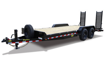 "#89022  BT 16ET 83"" x 17 + 3 (17 Deck w/ 3 Cleated Dovtail) Equipment Trailer 17500 GVWR"