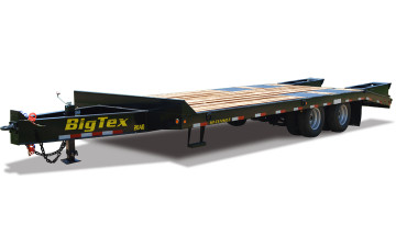 Big Tex 20ED 20' + 5' Dovetail 20K Heavy Duty Pintle Equipment Trailer w/ Electric Brakes