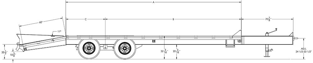 Economy Tandem Dual Wheel Pintle Trailer