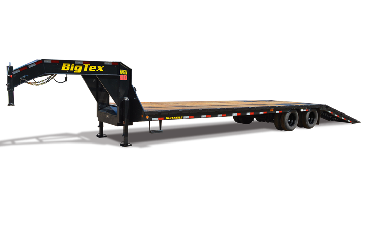 Tandem Dual Axle Gooseneck Hydraulic Dovetail Trailer