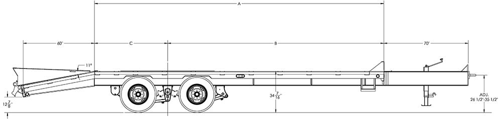 Tandem Dual Wheel Pintle Trailer