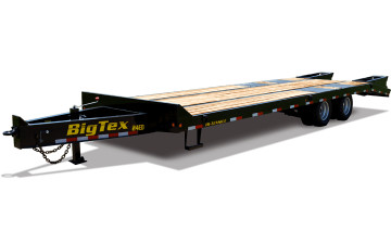 Big Tex 24ED 20' + 5' Dovetail Heavy Duty Pintle Equipment Transport Trailer