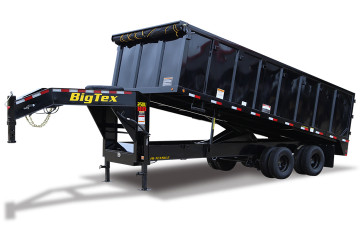 2019 BIG TEX 25DU DUMP TRAILER (8X20) WITH 8FT SLIDE OUT RAMPS - BIGGEST DUMP TRAILER BY BIG TEX