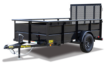 BIG TEX (2019) 30SV 5 X 8 SAU, 2' SOLID STEEL SIDES, 4' EXP METAL GATE, SPARE TIRE KIT (#7711)