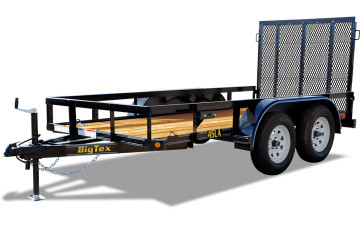 "Big Tex 45LA 60"" x 14 Tandem Axle Angle Iron Utility Trailer"