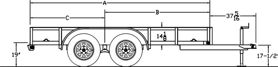 big tex tandem axle utility trailer  mark 4 trailers in