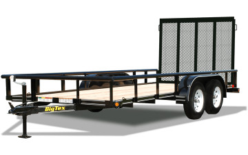 6.5x12 Big Tex Utility trailer Tandem Axle Pipe Top rail