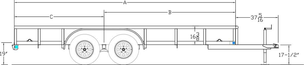 Economy Tandem Axle Pipe Top Trailer