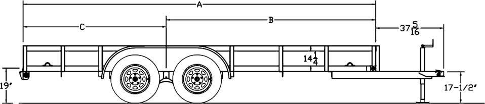Tandem Axle Angle Iron Utility Trailer