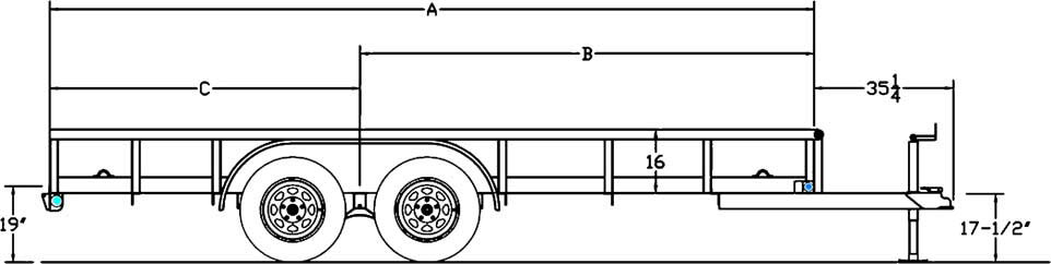 Tandem Axle Pipe Special Trailer
