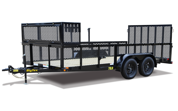 "Big Tex 70LR 83"" x 16 Tandem Axle Landscape Trailer"