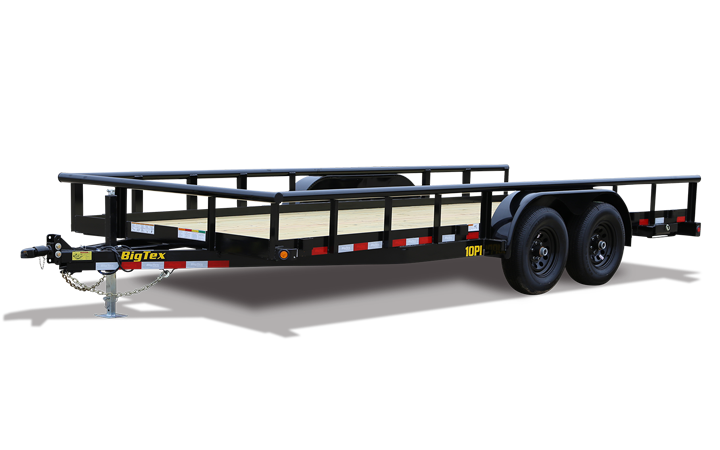 "Big Tex 10PI 83"" x 18 Pro Series Tandem Axle Pipe Top Utility Trailer"