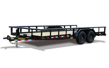 "Big Tex 10PI 83"" x 16 Pro Series Tandem Axle Pipe Top Utility Trailer"