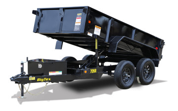 Big Tex 70SR 7K SINGLE RAM LP DUMP(5x10 TANDEM AXLE, DBL DOORS