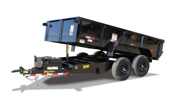 BIG TEX TRAILER WORLD-INC 90SR 10K SINGLE RAM LP DUMP(6x12) 7SIR BLACK