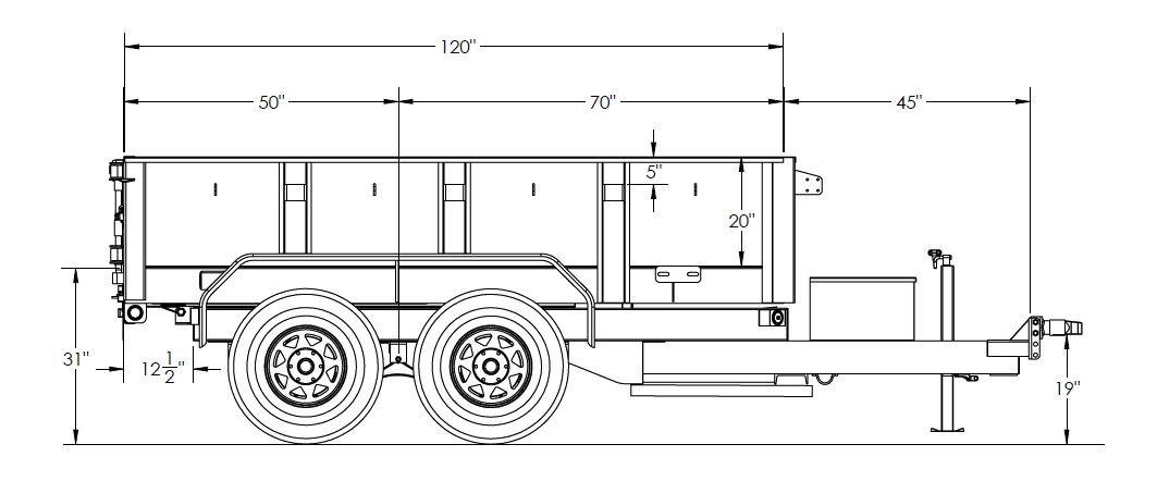 Tandem Axle Single Ram Dump Trailer