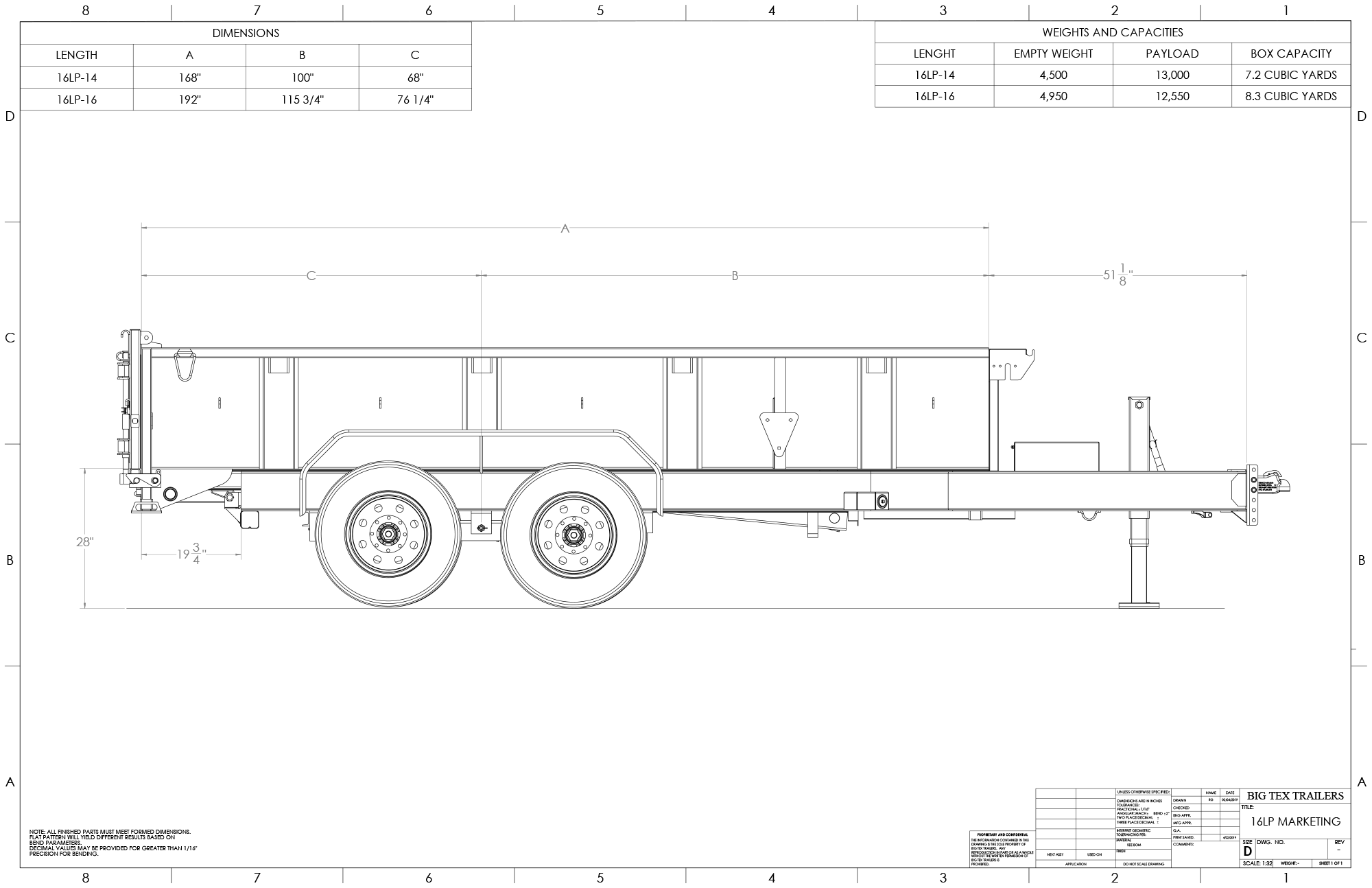 Line Drawing for 16LP