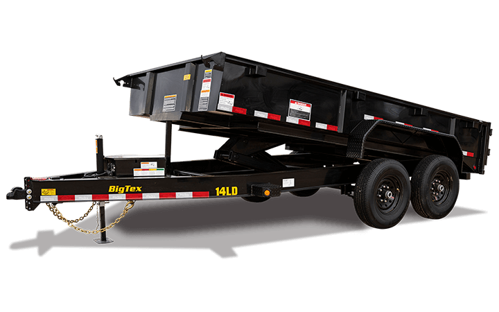 "Big Tex 14LD 83"" x 14  Low Profile Dump"