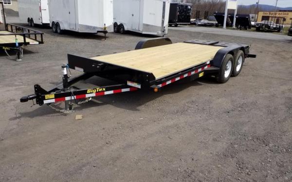 Big Tex 10Et-18 Pro Series Tandem Axle Equipment Trailer W/Knee Ramps