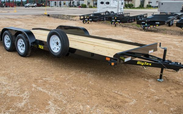 70CH-18' Car Hauler Trailer-Big Tex W/ Dovetail