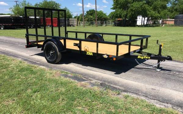 Big Tex 35SA-12 Single Axle Utility Trailer