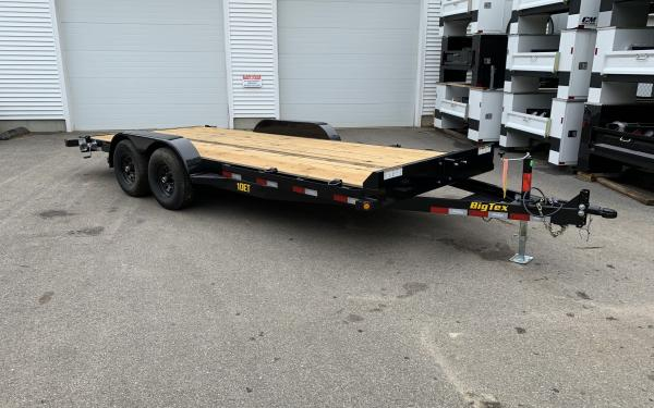 "Big Tex 10ET 83"" x 18 Pro Series Tandem Axle Equipment Trailer slide in ramps"