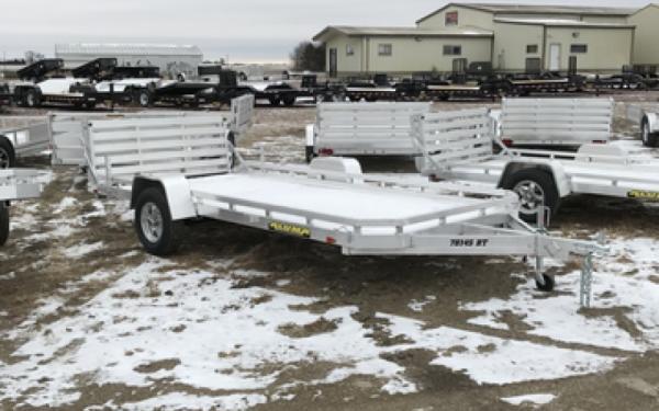 2018 Aluma 7814 S BT Aluminum Utility trailer # 6996