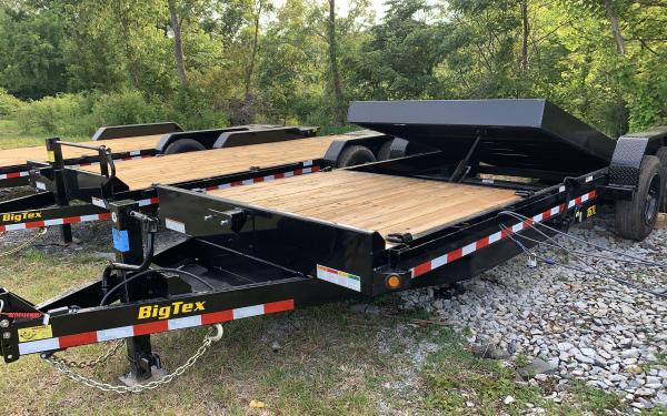 "Big Tex 16TL 83"" x 22 (16 + 6) Super Duty Tilt Bed Trailer 17.5k"