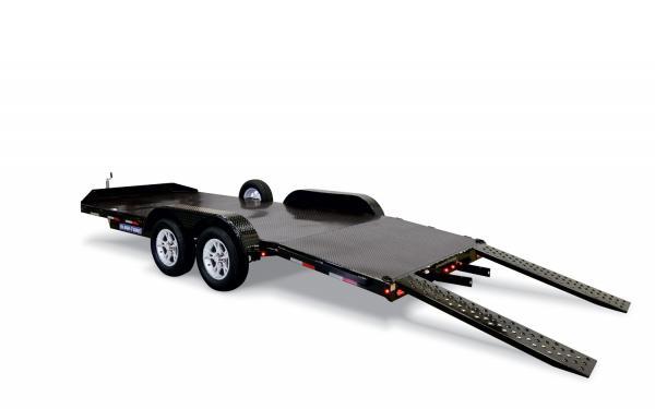 Sure-Trac 7k 7x18 Steel Floor Car Hauler
