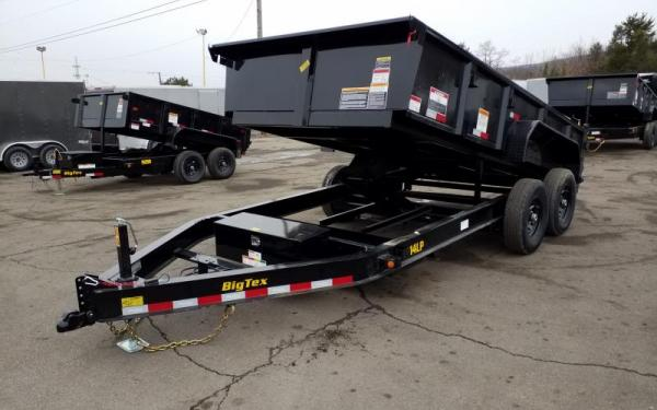 BIG TEX MODEL 14LP-14' DUMP TRAILER W/ TARP, RAMPS & SPARE TIRE - GVWR #14000