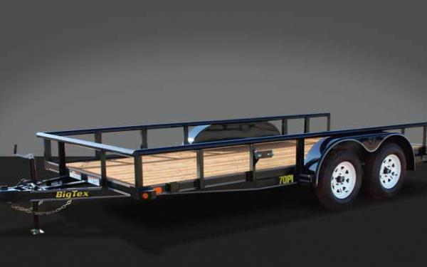 "Big Tex 70PI-X (83"" x 18') Tandem Axle Pipe Top Utility Trailer"