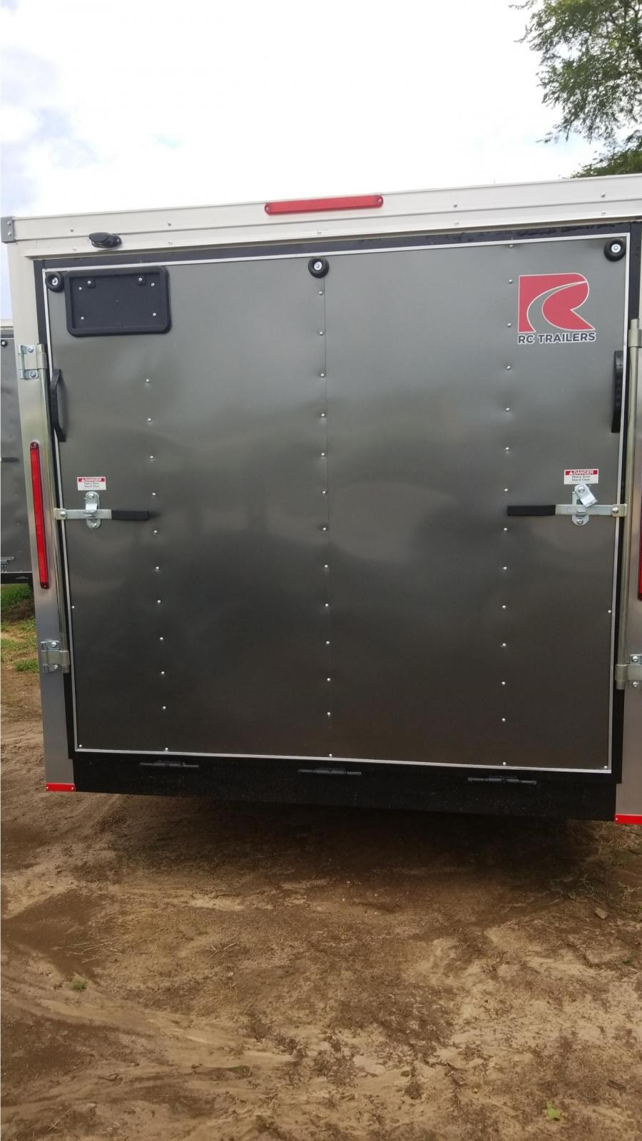 7 X 20 Tandem Axle FLAT TOP WEDGE ENCLOSED TRAILER BY RC
