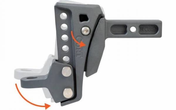 """Rebellion XD CURT HITCH 6-1/4"""" Drop, 15000lbs, 6 Adjustable Positions"""