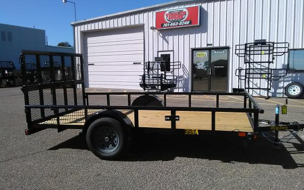 12' UTILITY TRAILER - 3.5K SINGLE AXLE - BI-FOLD RAMP GATE