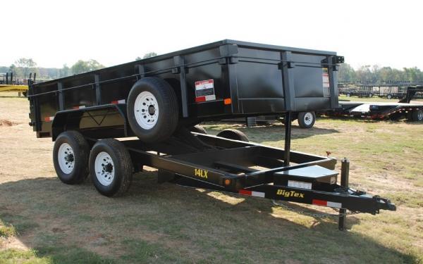 Big Tex 14 LX 12'Dump Trailer W/7' Slide in Ramps