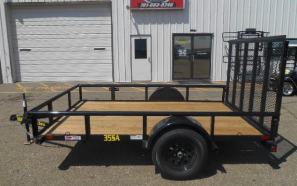 10' UTILITY TRAILER - 3.5K SINGLE AXLE - 4' RAMPGATE
