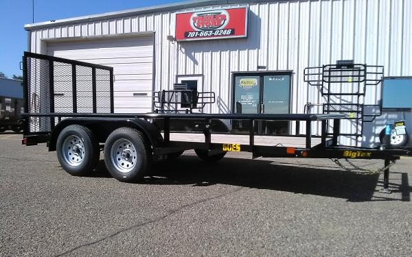 12' ECONOMY TRAILER - 3.5K  TANDEM AXLE - 4' RAMP GATE
