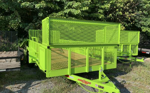 DOWN TO EARTH 7 X 18 TA LANDSCAPE TRAILER LIME GREEN