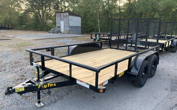 "Big Tex 60PI 77"" x 12 Tandem Axle Pipe Top Utility Trailer"