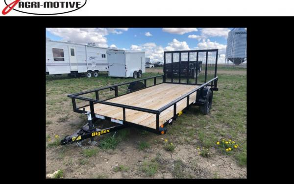 "Big Tex 35SA 83"" x 14 Single Axle Utility Trailer"
