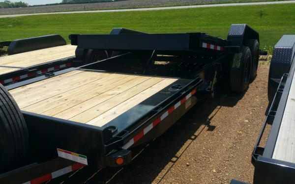 BIG TEX 16TL-22 Super Duty Tilt Bed Trailer (6' Stationary, 16' Tilt) w/ Spare Mount, Spare Tire & Side Tilt Lock-out