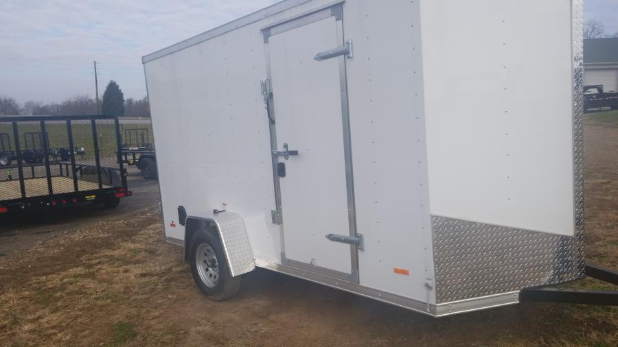 6 x 12 Single Axle FLAT TOP WEDGE ENCLOSED TRAILER BY RC Trailers