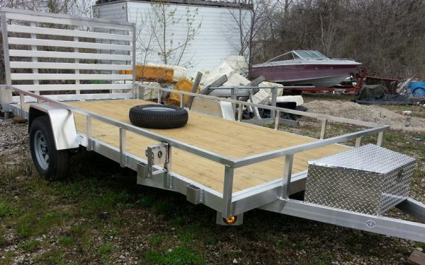 Quality Steel SIMPLICITY ALUMINUM UTILITY TRAILERS 82 x 12
